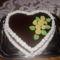 Csoki-Szív torta marcipán rózsákkal