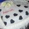 Szív torta (fekete-erdő, marcipán borítással)
