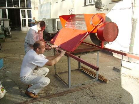 városi szélgenerátor a BME szélcsatorna mérés előtt
