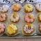 Almás diós muffinok