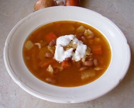 Szárazbab leves