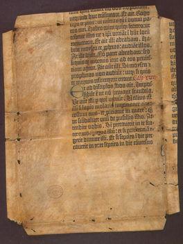 Töredék a legelső nyomtatott könyvből