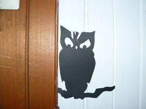 Halloween ötletek - lépcsőfeljárón bagoly