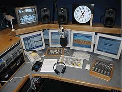 egy rádió studiója