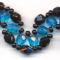 fekete-kék kacskaringós karkötő
