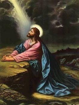 Jézus az Olajfák hegyén az Istar szentélynél
