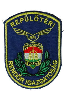 repülőtéri rendőr igazgatósag hímzett karjelvény_685559_11061