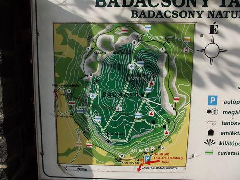 A Badacsony túrista térképe