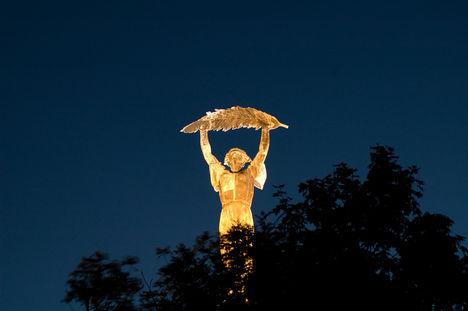 szabadság szobor éjszaka