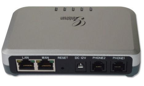 2 vonalas SIP VoIP adapter alközpontba, vagy telefonhoz csatlakoztatva.