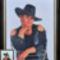 Cowboy lány fotóval (Lina)