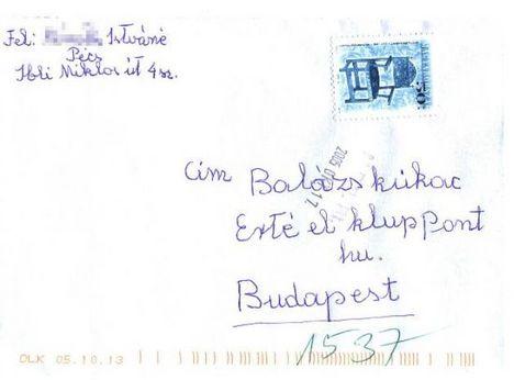 levél Balázsnak