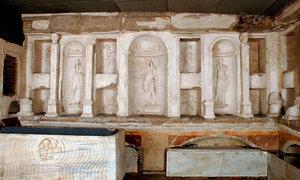 sírhely ahol megtalálták Péter csontjait