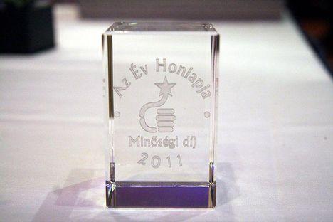 az év honlapja díj