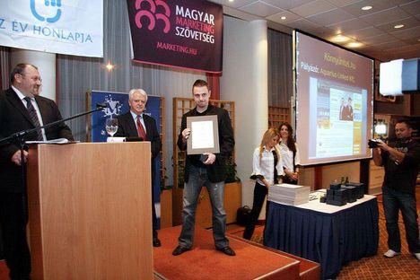 az év honlapja egyik díjazottja