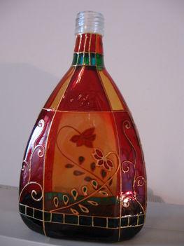 festett pálinkás üveg
