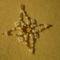 arany-fehér karácsonyi csillag