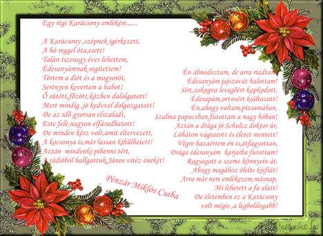 Egy régi Karácsony emlékére