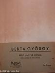 A könyv címe: Berta György húsz magyar nótája