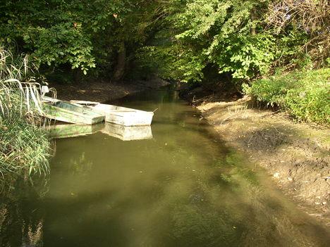 Bezenye, A Rétárok csatorna torkolata a Mosoni-Dunánál,