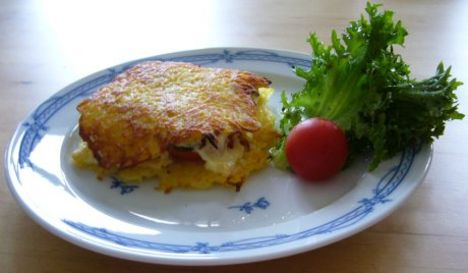 Krumplitócsni sajttal