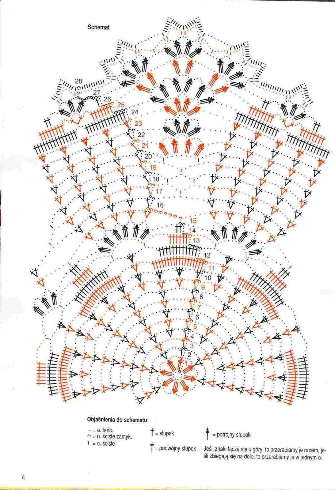 Вязание крючком набора салфеток
