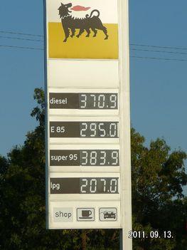 tavalyi benzin ár itt