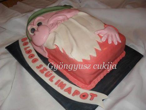 Morgó törpe torta 1