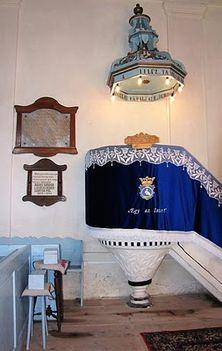 Székelydomokosi unitárius templom szószéke