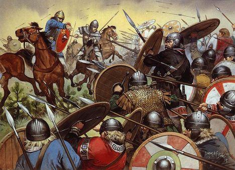 Hunok csata,Katalaumi ütközet