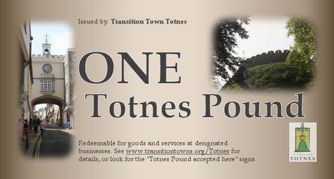 Közösségi város: Totnesi helyi font
