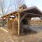 Lipót, elkészült a kemence a Kengyátó-tó mellett, 2012. január 18.-án