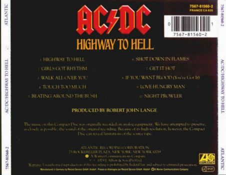 AC-DC - Highway to Hell - Back