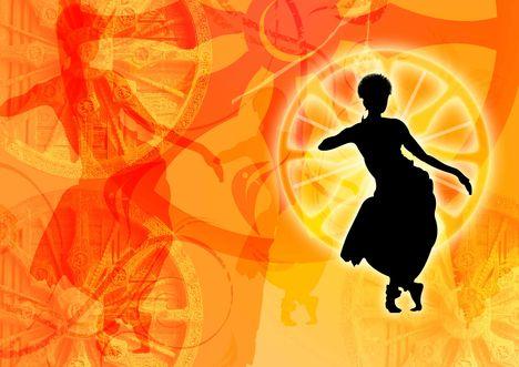 Indiai odisszi tánc grafikák 12