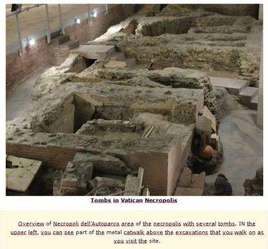 Vatikáni ásatások Santa Rosa Necropolis 10