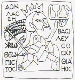 Atilla királyunk képe a szentkoronán