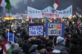 Béketüntetés 2012. január 14