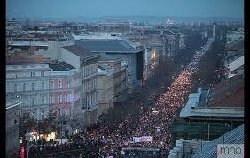 Béketüntetés Budapesten 2012. január 4