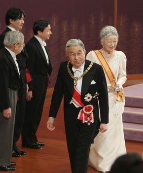 Japán császári pár az újévi gálán 2012