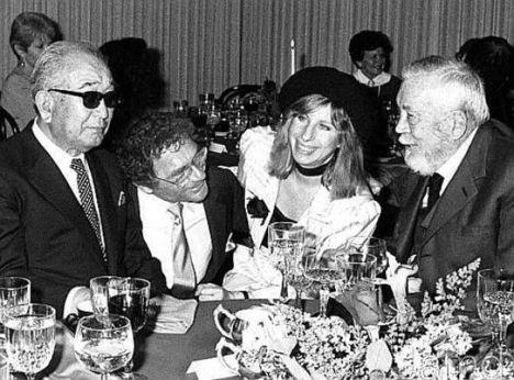 Akira Kurosawa, Sydney Pollack, Barbara Streisand, John Huston