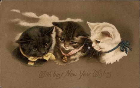 Kitty Cat New Year 2