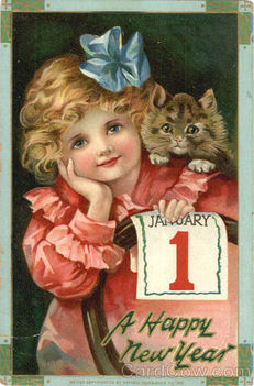 New-year-card-vintage-girl-cat