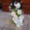 Csokor száraz virágokból habrózsával