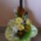 Csokor száraz virágokkal és habrózsával