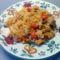 Zöldséges rizseshús