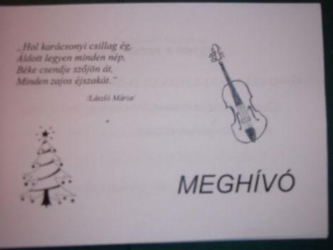 Meghívó Karácsonyi előzetes 2011.dec.6.Újpest.Ady E.Műv.Közp.