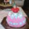 PICT0085 Bogikám névnapjára készítettem ezt a Barbie tortát.