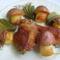 Sült csirkecomb  formázott burgonyával