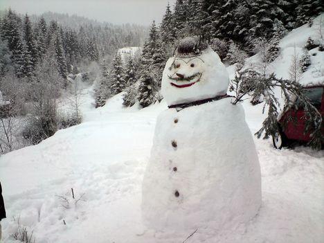 Kész a hóember!