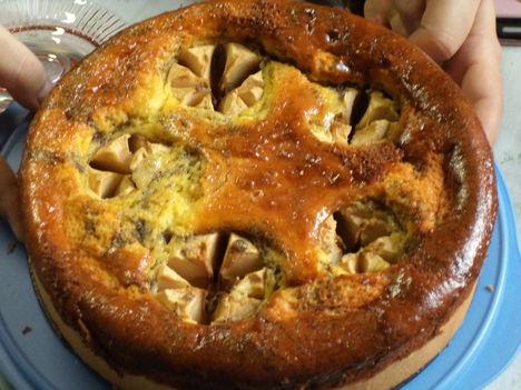mákos almás sajttorta